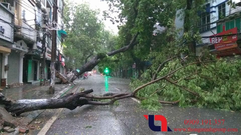 Cách phòng chống sét cho cửa cuốn mùa mưa bão usagi 2018