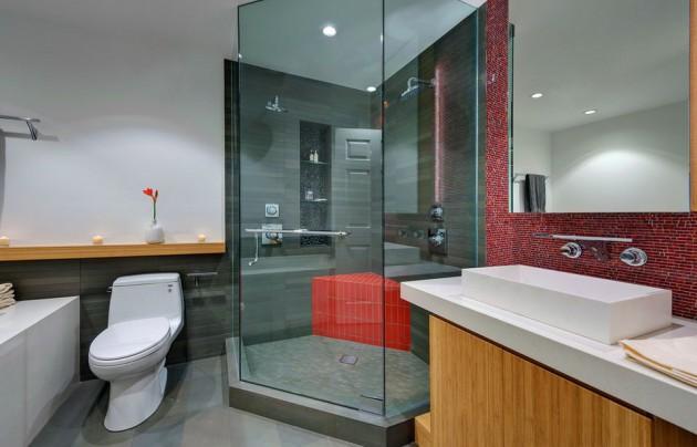 Phòng tắm kính lục giác