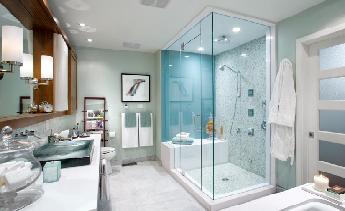 Top 5 mẫu kính màu cường lực ốp tường tân trang phòng tắm thêm lung linh